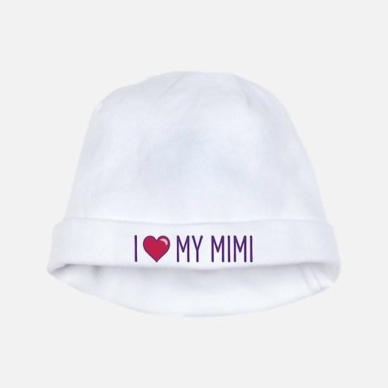 I Love My Mimi baby hat
