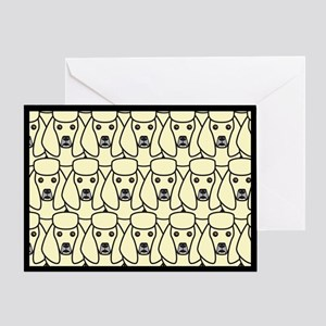 Cream Poodles Greeting Card