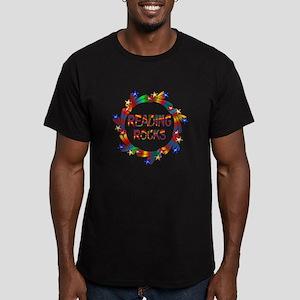 Reading Rocks Men's Fitted T-Shirt (dark)
