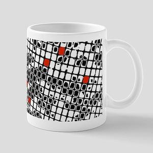 Ten Red Squares Mugs