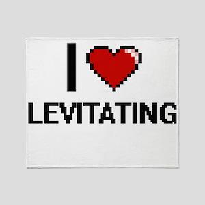 I Love Levitating Throw Blanket