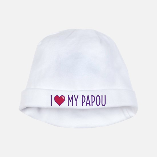 I Love My Papou baby hat