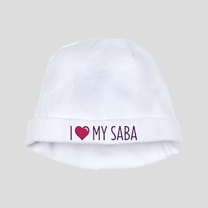I Love My Saba baby hat