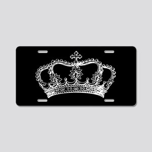 Vintage Crown Aluminum License Plate