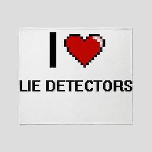 I Love Lie Detectors Throw Blanket