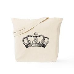 Vintage Crown Tote Bag