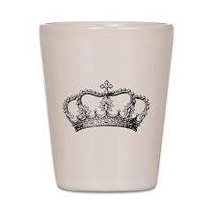 Vintage Crown Shot Glass