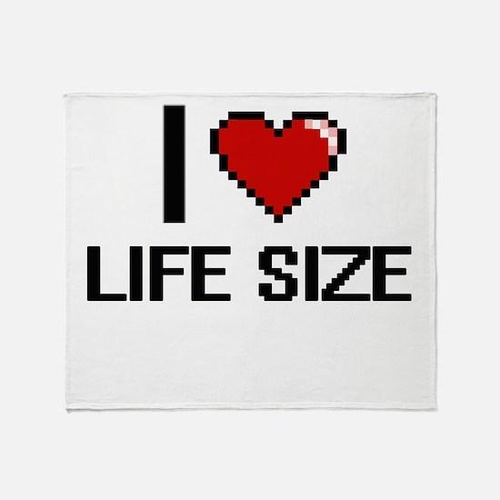 I Love Life Size Throw Blanket