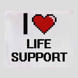 I Love Life Support Throw Blanket