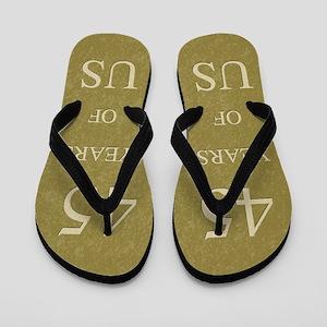 45th Wedding Anniversary Flip Flops