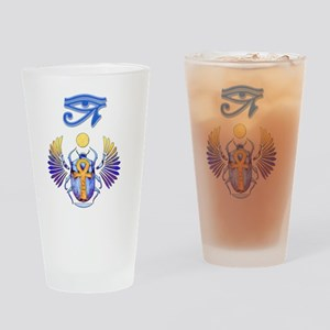 Scarab Egyptian Art Drinking Glass