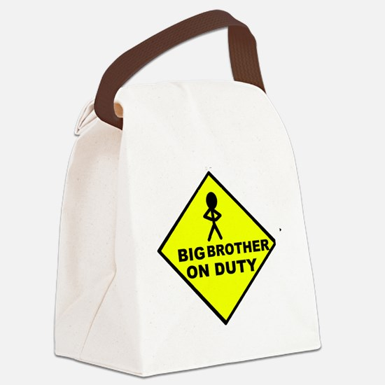 Big Bro on Duty Canvas Lunch Bag