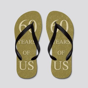 60th Wedding Anniversary Flip Flops