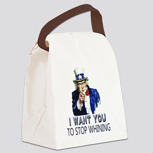 Uncle Sam Stop Whining Canvas Lunch Bag