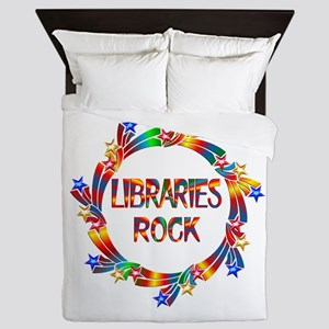 Libraries Rock Queen Duvet