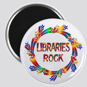 Libraries Rock Magnet