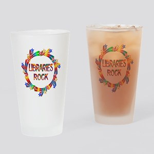 Libraries Rock Drinking Glass