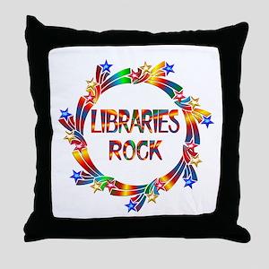 Libraries Rock Throw Pillow