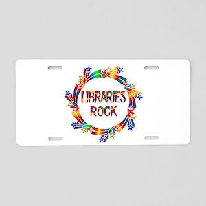 Libraries Rock Aluminum License Plate