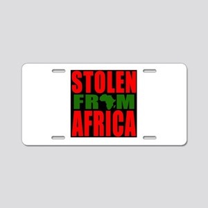 Red Black and Green Colours Aluminum License Plate