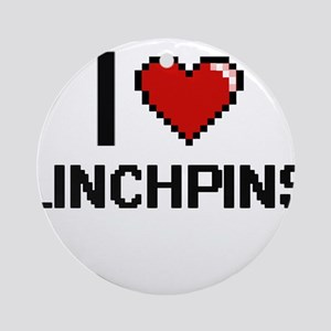 I Love Linchpins Ornament (Round)