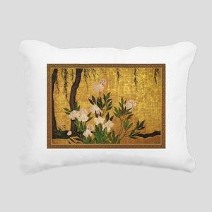 Peonies Rectangular Canvas Pillow