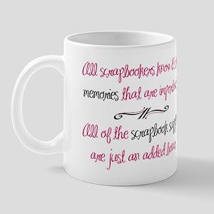 Memories vs. Scrapbook Supplies Mug