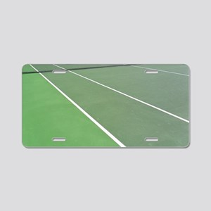 Tennis Court Aluminum License Plate