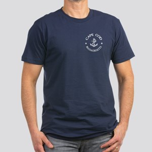 Cape Cod Anchor Men's Fitted T-Shirt (dark)