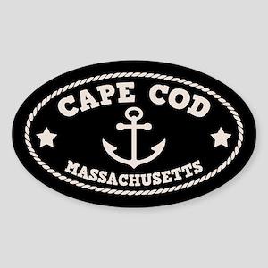 Cape Cod Anchor Sticker (Oval)