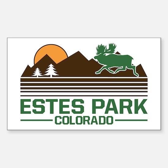Estes Park Colorado Sticker (Rectangle)
