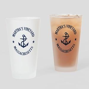 Martha's Vineyard Anchor Drinking Glass