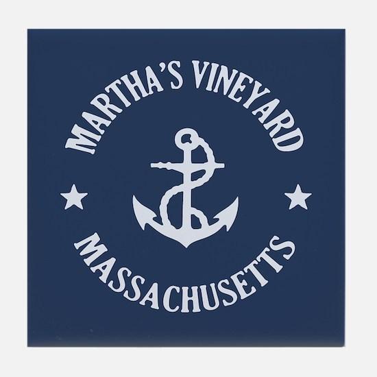 Martha's Vineyard Anchor Tile Coaster