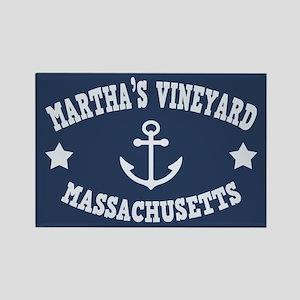 Martha's Vineyard Anchor Rectangle Magnet