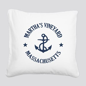 Martha's Vineyard Anchor Square Canvas Pillow