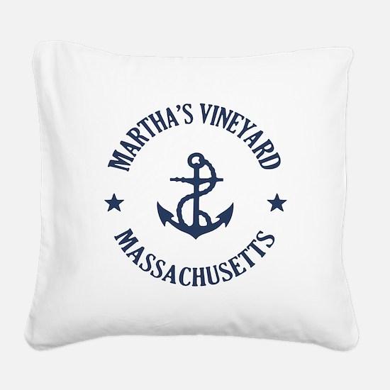 Martha's Vineyard Anchor Square Canvas Pillow