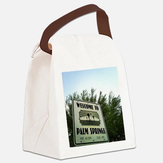 Cute Palm springs Canvas Lunch Bag