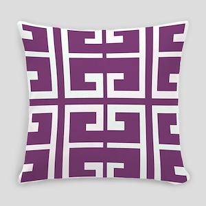 Purple Spanish Tile Everyday Pillow