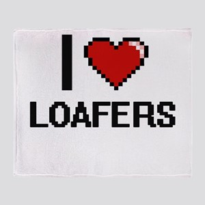 I Love Loafers Throw Blanket