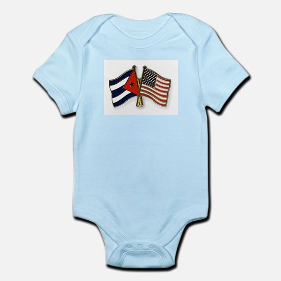 Cuban flag and the U.S. flag Body Suit