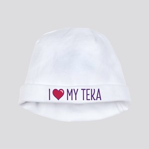 I Love My Teka baby hat