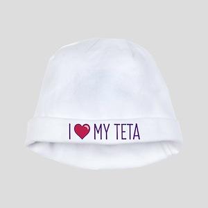 I Love My Teta baby hat