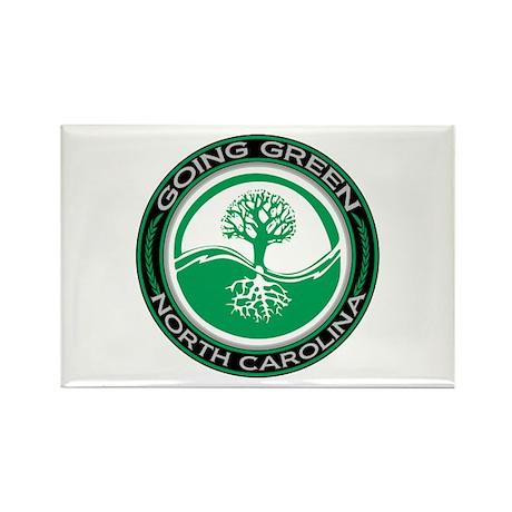 Going Green North Carolina (Tree) Rectangle Magnet