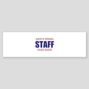 Ships Wheel Card Game STAFF Bumper Sticker