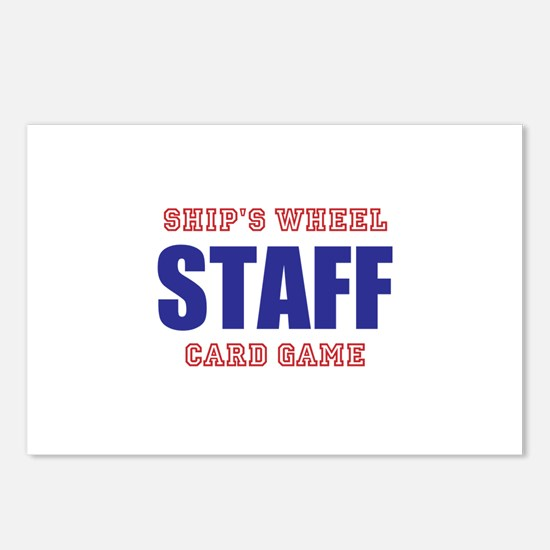 Ships Wheel Card Game STAFF Postcards (Package of