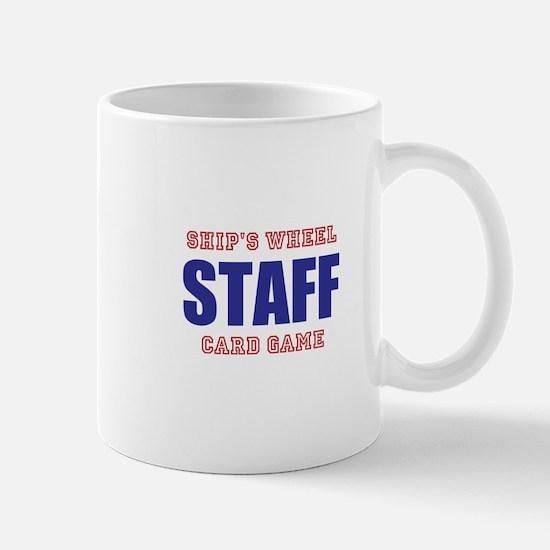 Ships Wheel Card Game STAFF Mugs