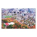 Montreal City Rectangle Sticker