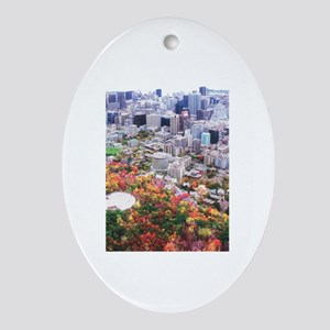 Montreal City Oval Ornament