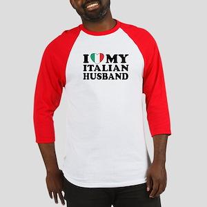 I Love My Italian Husband Baseball Jersey
