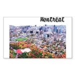 Montreal City Signature upper Sticker (Rectangular